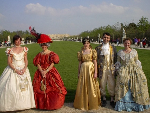 Nos balades en costume au Chateau de Versailles, 2003, 2004, 2005 Visite10