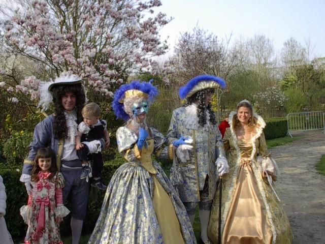 Nos balades en costume au Chateau de Versailles, 2003, 2004, 2005 Visite11