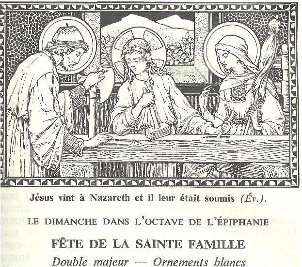 Fête de la Sainte Famille Dimanc10