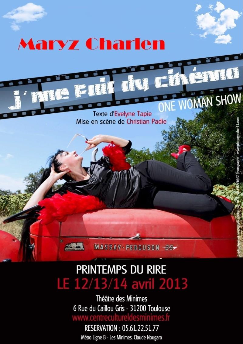 Dossier de communication pour le one woman show : J'me fais du cinéma Essai110
