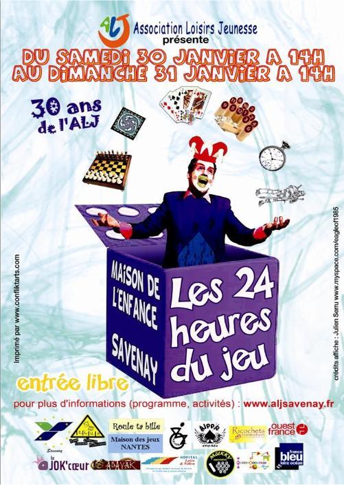 24 Heures du jeu SAVENAY Affich10