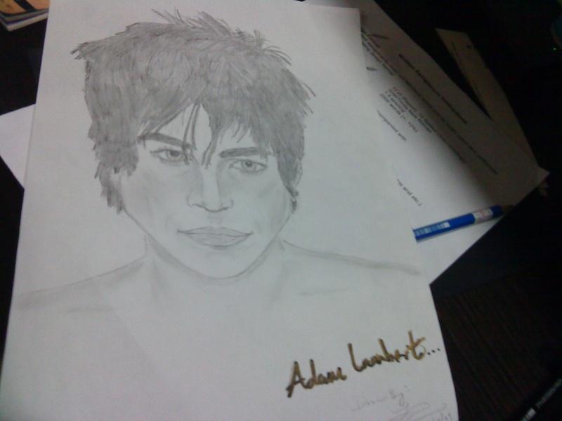 I drew Adam Lambert! Dsc01710