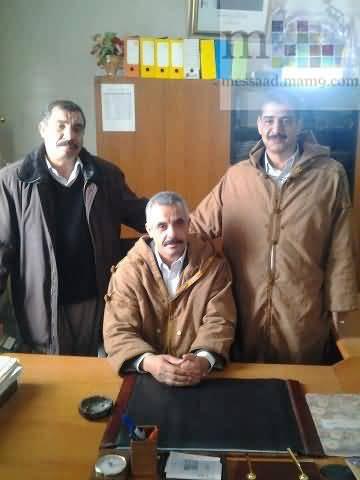 السيد دحمان محمد رئيس المجلس الشعبي البلدي لبلدية مسعد 0114