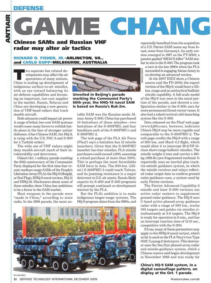 Le catalogue des armements chinois disponibles à l'export Sam10