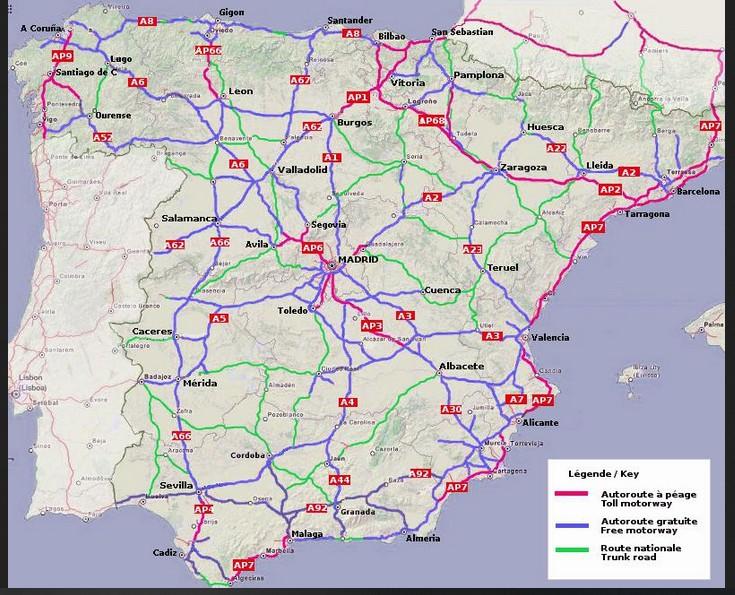 [ESPAGNE] Autoroutes en Espagne 000010