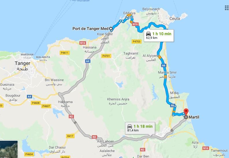 [Carburant, Routes, Police]  route entre Tanger med et Martil 0000_t11