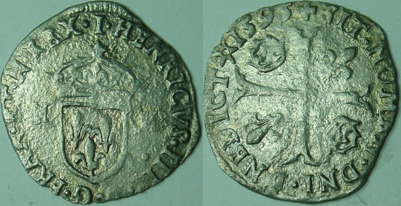 Douzain aux 2 H Henri IIII 41510