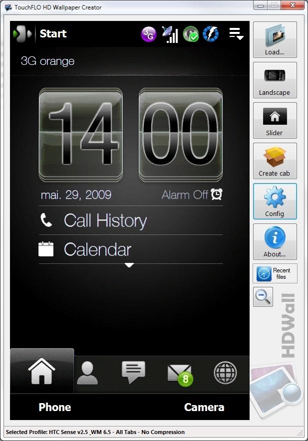 HDWALL - Fonds d'écran intégral + barres Windows transparentes Sans_t10