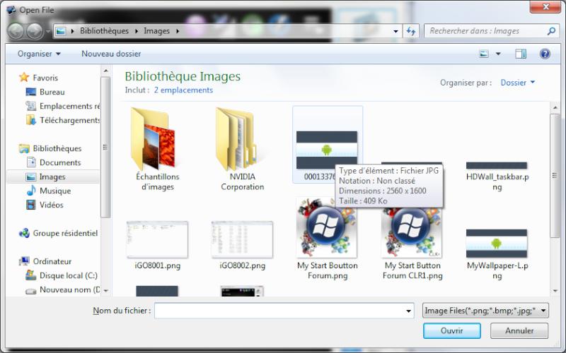HDWALL - Fonds d'écran intégral + barres Windows transparentes Sans_t12