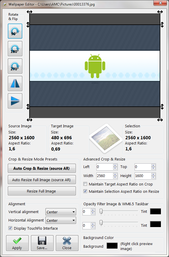HDWALL - Fonds d'écran intégral + barres Windows transparentes Sans_t13