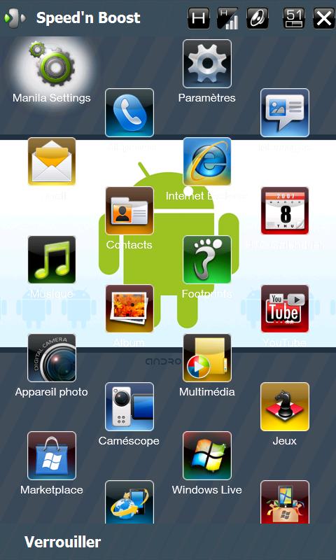 HDWALL - Fonds d'écran intégral + barres Windows transparentes Screen12