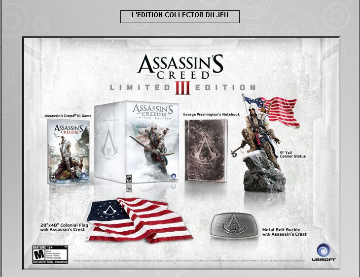 XBOX 360 : Edition ASSASSIN'S CREED 3 Assass13