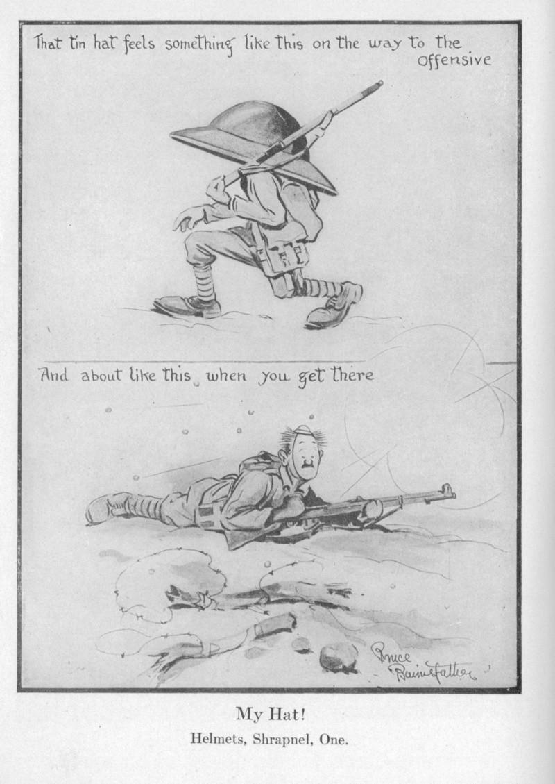 WWI Helmet Cartoons Helmet10