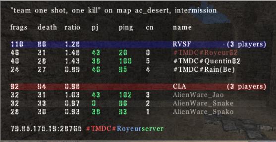 =AW= vs #TMDC# Tmdc110