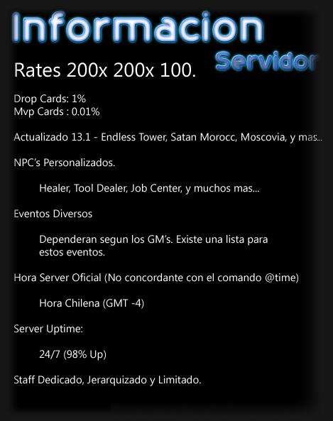 Informacion del Servidor Asdsad13
