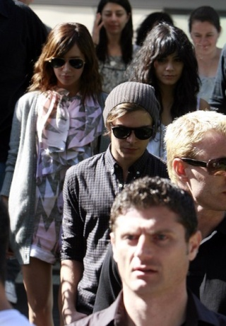 Zac, Vanessa And Ashley Leaving Catalinas Restaurant In Sydney 427