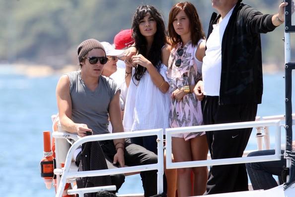 Zac, Vanessa And Ashley Enjoy A Boat Ride In Sydney 536