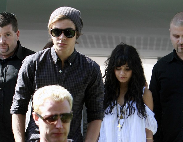 Zac, Vanessa And Ashley Leaving Catalinas Restaurant In Sydney 923