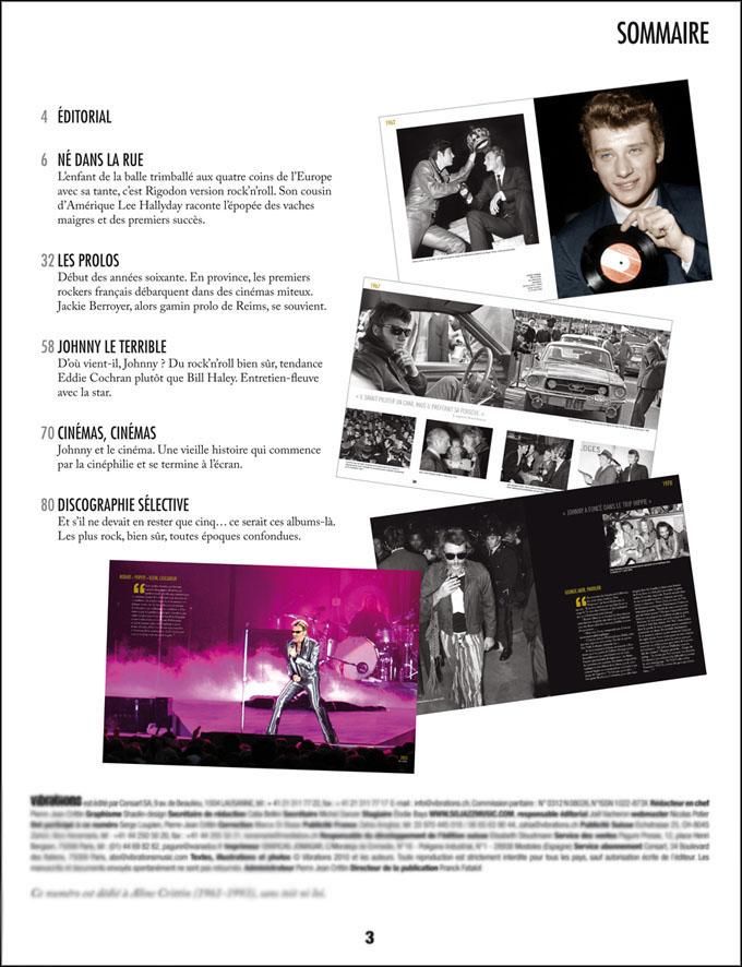 """Magazine """"Johnny Hallyday - Une vie pour le rock"""" Sommai12"""