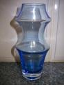 2 ice blue glass vases ID Help please-scandinavian?? 100_7916