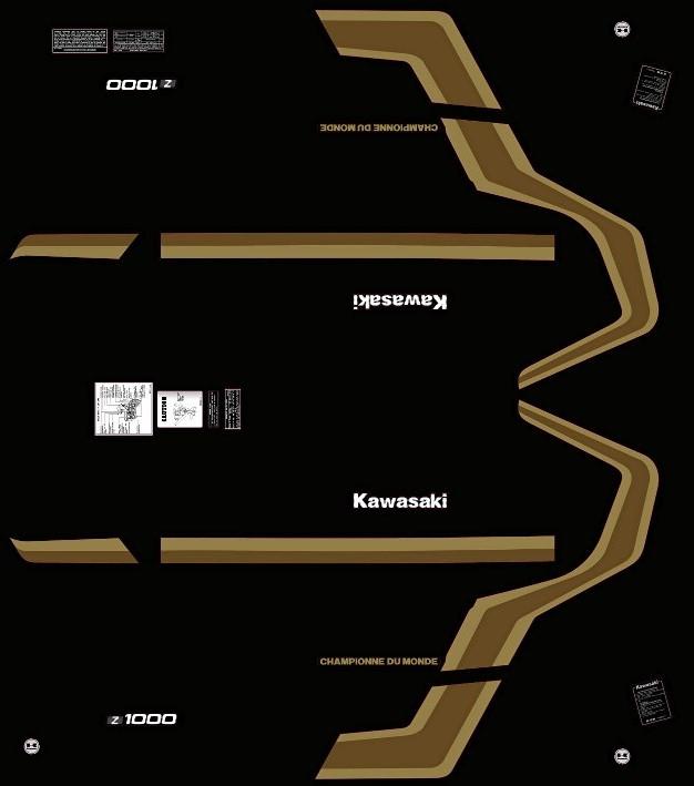 photos, doc. Kawasaki Z1000J Championne du monde Kit_z112
