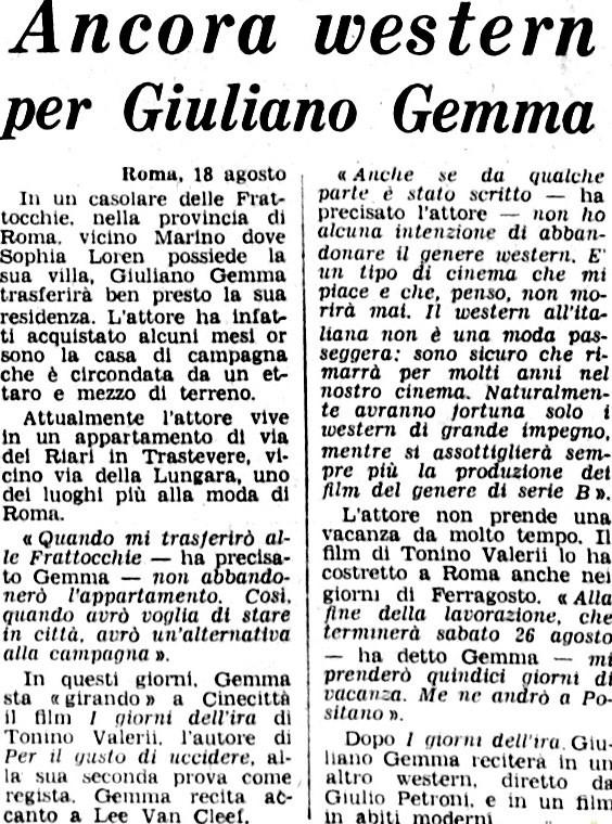 Le dernier jour de la colère - I giorni dell'ira - 1967 - Tonino Valerii Giorna10