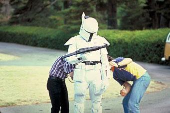 Meet Boba Fett - original footage of the prototype white Fett costume Dunham10