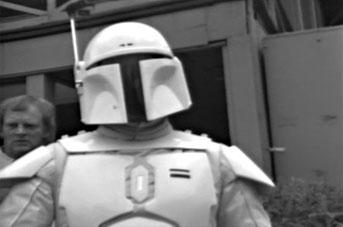 Meet Boba Fett - original footage of the prototype white Fett costume Dunham11