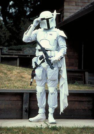 Meet Boba Fett - original footage of the prototype white Fett costume White-10