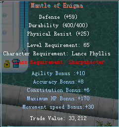 Equipment changes Armor610