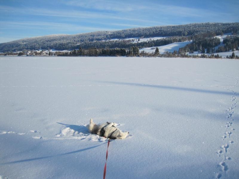 Nouvelles courses de Saskia dans la neige 2410