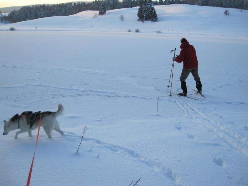 Nouvelles courses de Saskia dans la neige 3710