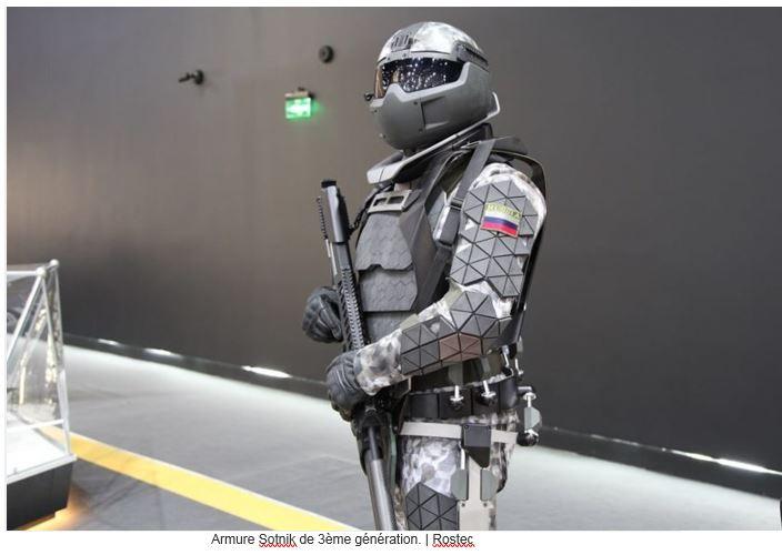La Russie développe une armure de combat futuriste capable d'arrêter des balles de calibre .50 A10