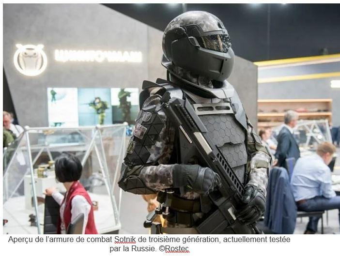 La Russie développe une armure de combat futuriste capable d'arrêter des balles de calibre .50 B10