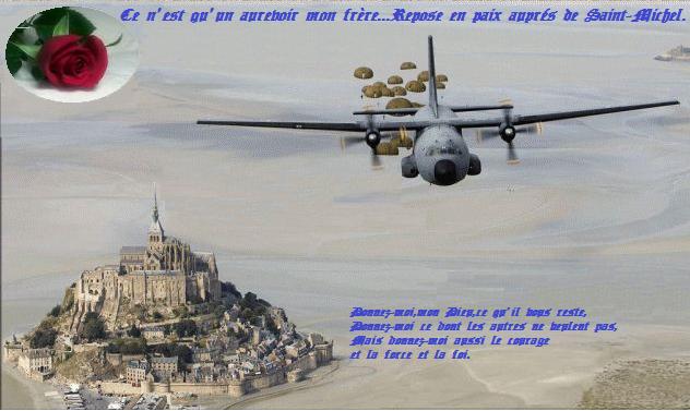 Flash...Le Capitaine (er) Marcel CLEDIC a effectué son dernier saut. Il a rejoint Saint Michel et avec ses camarades des FFI, d'Indochine et d'Algérie il veille sur nous. Ce_n_e28