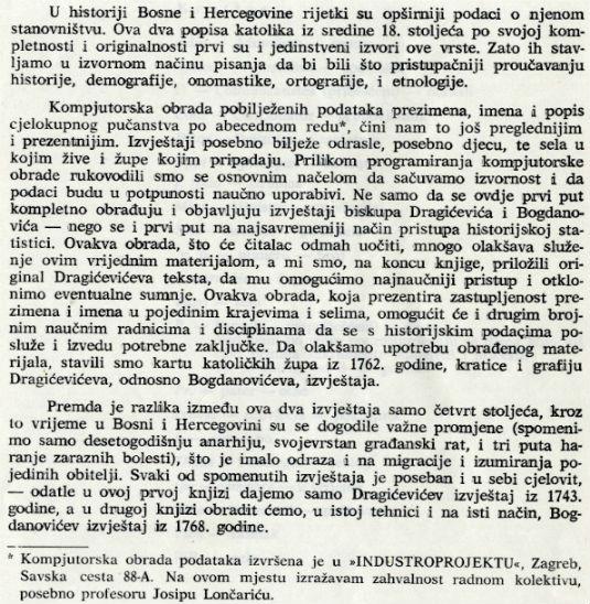 Knjiga - Popis katoličkih obitelji u BiH 1743.g. 1111