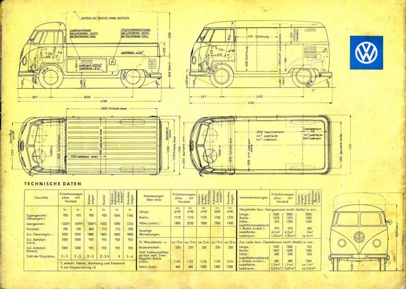 VOLKSWAGEN COMBI 1978 PICK UP SIMPLE ET DOUBLE CABINE Back10