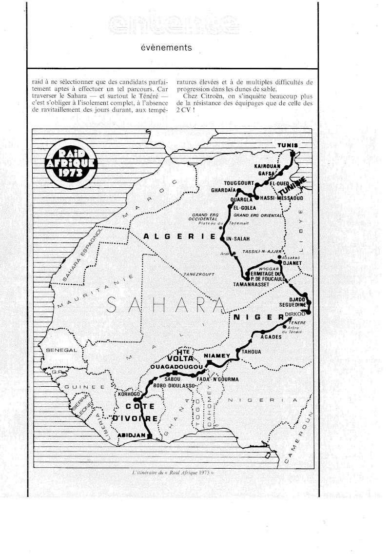 Les BERLIET et 2cv du RAID AFRIQUE 1973 Divers11