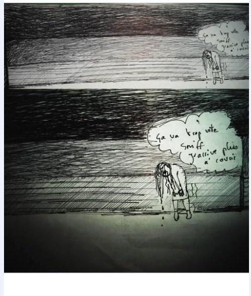 """cauchemar """"abandon surréaliste"""" Reve1110"""