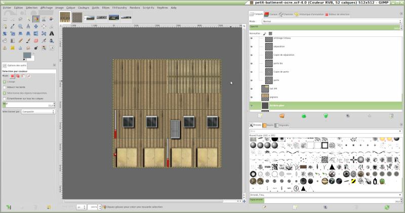 Comment reproduire une texture réelle avec GIMP. Gimp10