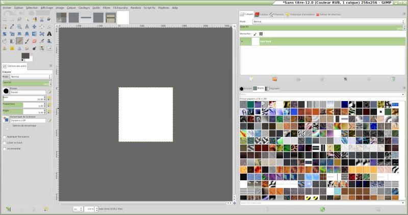 Comment reproduire une texture réelle avec GIMP. Motifs10