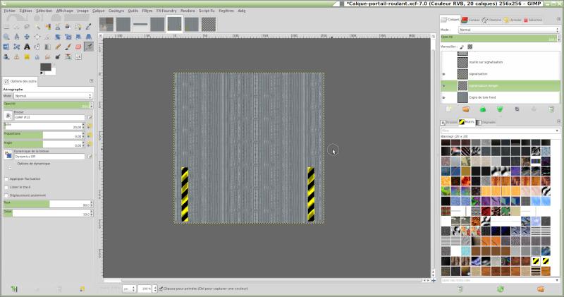 Comment reproduire une texture réelle avec GIMP. Signal10