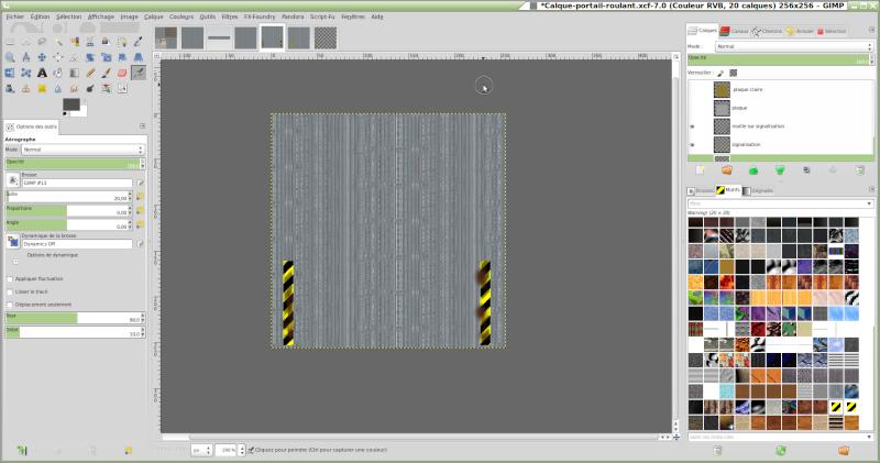 Comment reproduire une texture réelle avec GIMP. Signal11