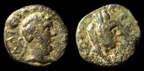 Une minuscule de Commode avec Tyche : Quadrans ? 0180-c10