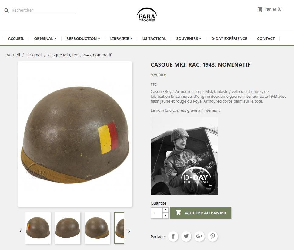 casque tankiste anglais royal armored corps 117