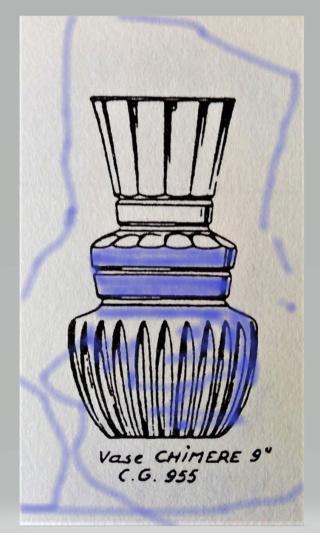 vase en cristal  overlay bleu VSL ??? Scree106
