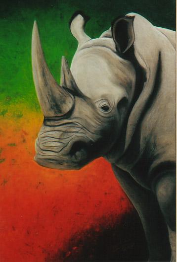 ILUSTRAÇÕES ANIMAIS Rinoce10