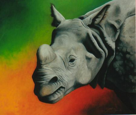 ILUSTRAÇÕES ANIMAIS Rinoce11
