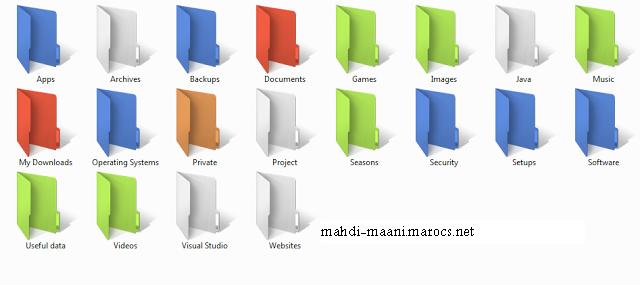تغير لون الملفات على الويندوز إلى اي لون تريد بسهولة Colori10