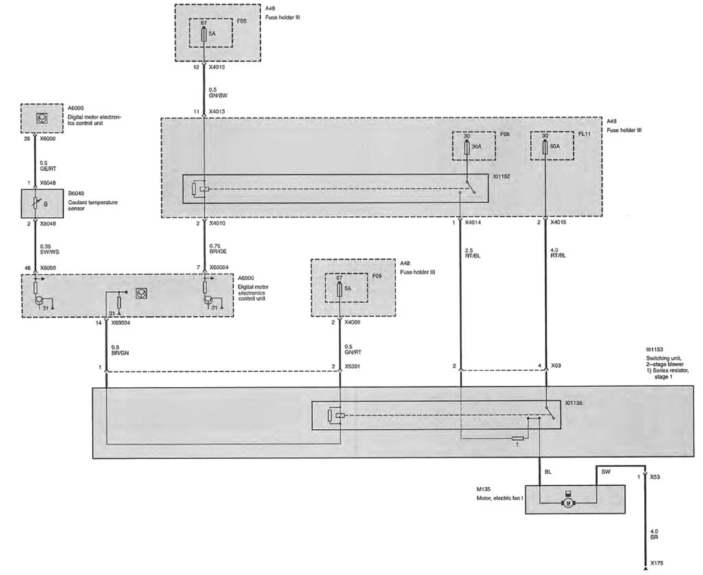 [Mini R53 cooper S 10/2002] Problème motoventilateur Schema11